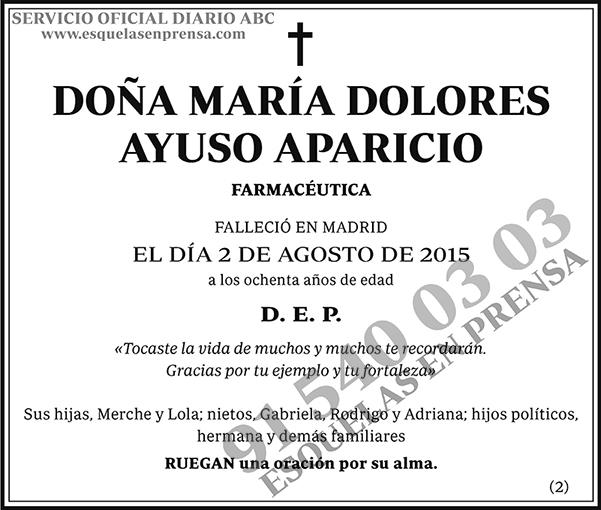 María Dolores Ayuso Aparicio